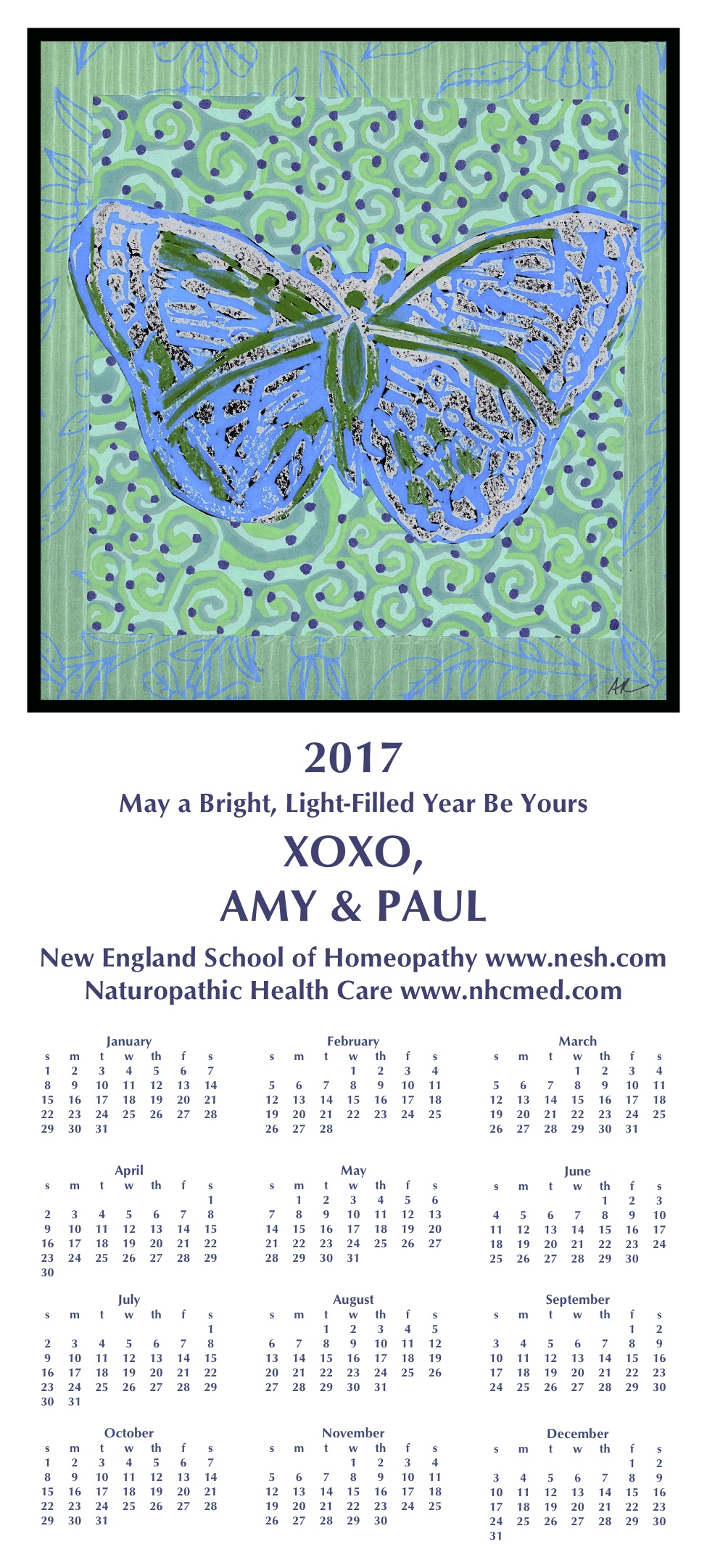 calendars from previous years new england school of homeopathy