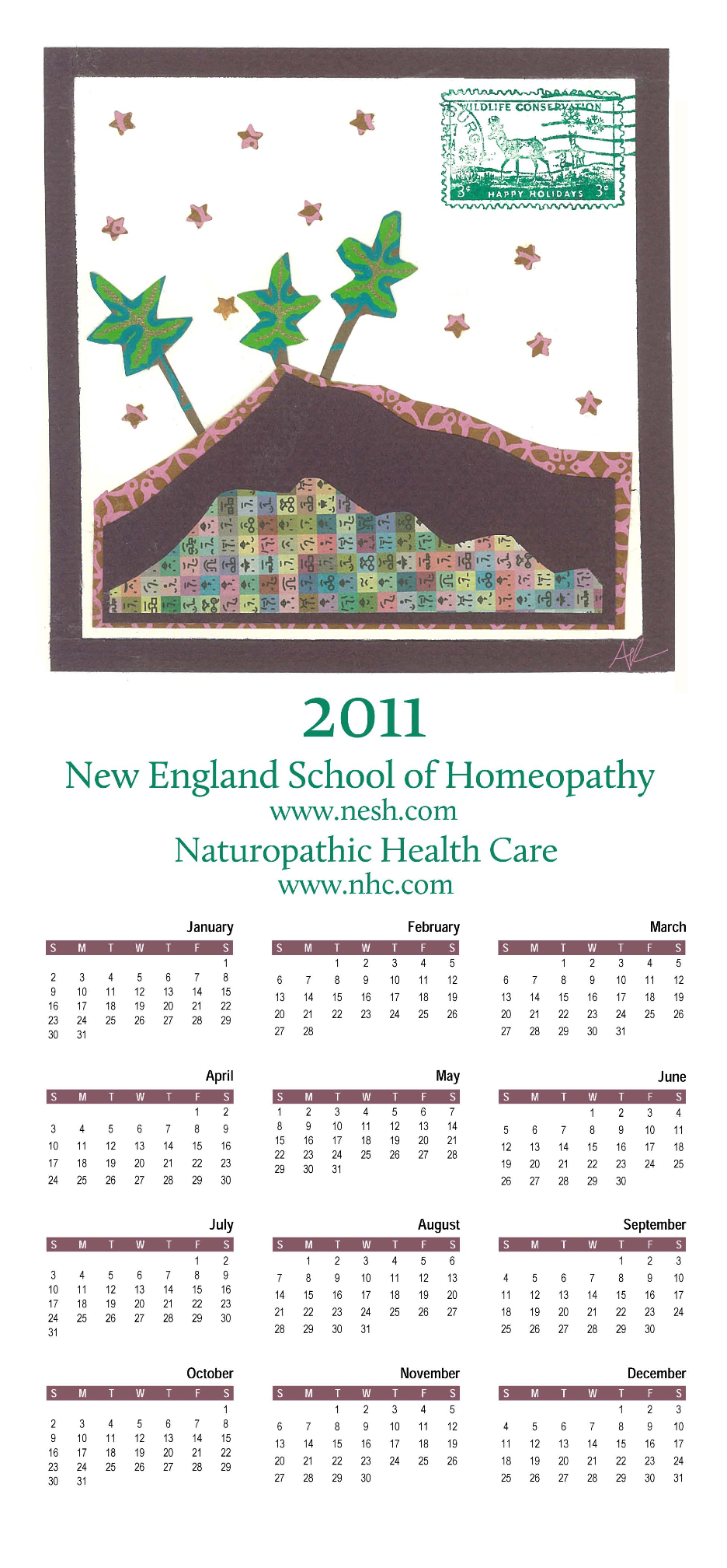 calendars from previous years  u00ab new england school of